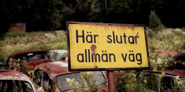 Skogen var full av gamla bilar vars glansdagar är förbi sedan länge, men charmen lever kvar i allra högsta grad.